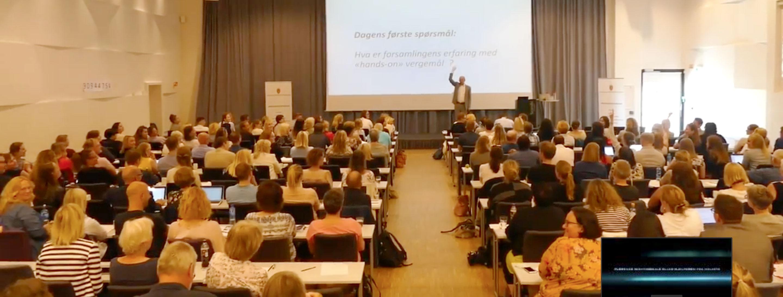 Daglig leder Carl Christian Ribe og foredragsholder i FasteVerger AS