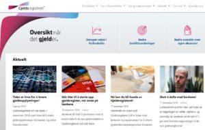 ÅPNES SNART: Det nye Gjeldsregisteret AS skal gi banker oversikt over usikret gjeld, som forbrukslån og kredittlån. Foto: Skjermdump
