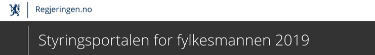 Styringsportalen for fylkesmannen 2019