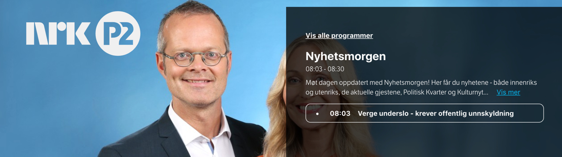 Nye Negative Oppslag Om Verger Nrk P2 Fasteverger No